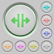 Vertical split color icons on sunk push buttons - Vertical split push buttons