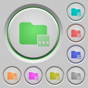 Organize folder color icons on sunk push buttons - Organize folder push buttons
