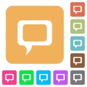 Comment flat icons on rounded square vivid color backgrounds. - Comment rounded square flat icons