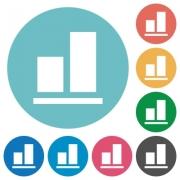 Align to bottom flat white icons on round color backgrounds - Align to bottom flat round icons
