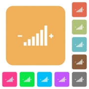 Control element flat icons on rounded square vivid color backgrounds. - Control element rounded square flat icons