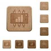 Hardware acceleration on rounded square carved wooden button styles - Hardware acceleration wooden buttons