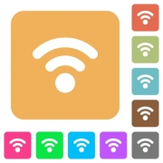 Radio signal flat icons on rounded square vivid color backgrounds. - Radio signal rounded square flat icons