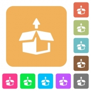 Unpack flat icons on rounded square vivid color backgrounds. - Unpack rounded square flat icons