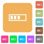 Progressbar flat icons on rounded square vivid color backgrounds. - Progressbar rounded square flat icons