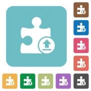 Upload plugin white flat icons on color rounded square backgrounds - Upload plugin rounded square flat icons