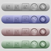 Maximize element icons on rounded horizontal menu bars in different colors and button styles - Maximize element icons on menu bars