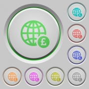 Online Pound payment color icons on sunk push buttons - Online Pound payment push buttons