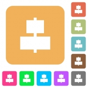 Align to center flat icons on rounded square vivid color backgrounds. - Align to center rounded square flat icons