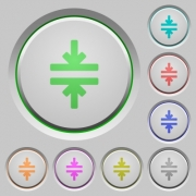Horizontal merge color icons on sunk push buttons - Horizontal merge push buttons