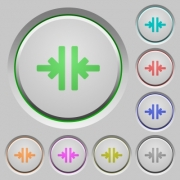 Vertical merge color icons on sunk push buttons - Vertical merge push buttons