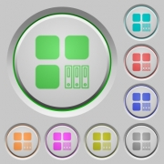 Archive component color icons on sunk push buttons - Archive component push buttons