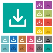 Download symbol multi colored flat icons on plain square backgrounds. Included white and darker icon variations for hover or active effects. - Download symbol square flat multi colored icons
