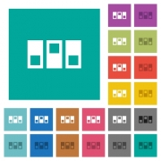 Switchboard multi colored flat icons on plain square backgrounds. Included white and darker icon variations for hover or active effects. - Switchboard square flat multi colored icons