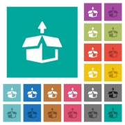 Unpack multi colored flat icons on plain square backgrounds. Included white and darker icon variations for hover or active effects. - Unpack square flat multi colored icons
