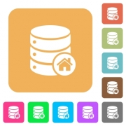 Default database flat icons on rounded square vivid color backgrounds. - Default database rounded square flat icons