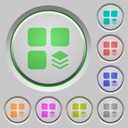 Multiple components color icons on sunk push buttons - Multiple components push buttons