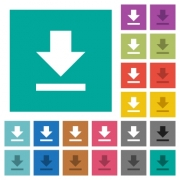 Download multi colored flat icons on plain square backgrounds. Included white and darker icon variations for hover or active effects. - Download square flat multi colored icons