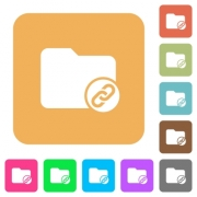 Directory attachment flat icons on rounded square vivid color backgrounds. - Directory attachment rounded square flat icons