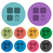 Delete component darker flat icons on color round background - Delete component color darker flat icons - Large thumbnail
