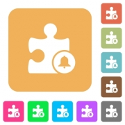 Bell plugin flat icons on rounded square vivid color backgrounds. - Bell plugin rounded square flat icons