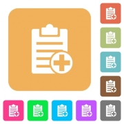 Add new note flat icons on rounded square vivid color backgrounds. - Add new note rounded square flat icons - Large thumbnail