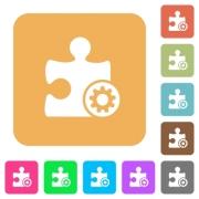 Plugin settings flat icons on rounded square vivid color backgrounds. - Plugin settings rounded square flat icons - Large thumbnail