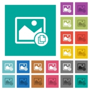 Copy image multi colored flat icons on plain square backgrounds. Included white and darker icon variations for hover or active effects. - Copy image square flat multi colored icons - Large thumbnail