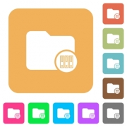 Archive directory flat icons on rounded square vivid color backgrounds. - Archive directory rounded square flat icons