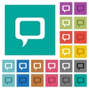 Comment multi colored flat icons on plain square backgrounds. Included white and darker icon variations for hover or active effects. - Comment square flat multi colored icons - Large thumbnail