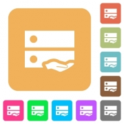 Shared drive flat icons on rounded square vivid color backgrounds. - Shared drive rounded square flat icons
