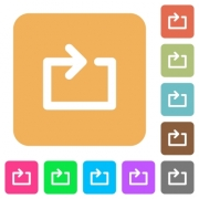 Media loop flat icons on rounded square vivid color backgrounds. - Media loop rounded square flat icons