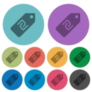 New Shekel price label darker flat icons on color round background - New Shekel price label color darker flat icons - Large thumbnail