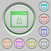 Unlock application color icons on sunk push buttons - Unlock application push buttons