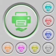 Shared printer color icons on sunk push buttons - Shared printer push buttons