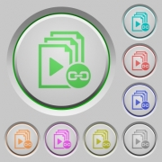 Link playlist color icons on sunk push buttons - Link playlist push buttons