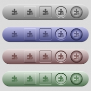 Plugin disabled icons on rounded horizontal menu bars in different colors and button styles - Plugin disabled icons on horizontal menu bars