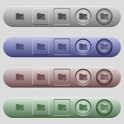 Uncompress directory icons on rounded horizontal menu bars in different colors and button styles - Uncompress directory icons on horizontal menu bars