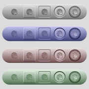 Remote terminal icons on rounded horizontal menu bars in different colors and button styles - Remote terminal icons on horizontal menu bars