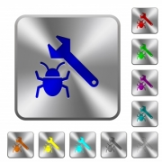 Bug fixing engraved icons on rounded square glossy steel buttons - Bug fixing rounded square steel buttons