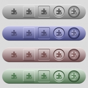 Bell plugin icons on rounded horizontal menu bars in different colors and button styles - Bell plugin icons on horizontal menu bars
