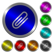 Attachment icons on round luminous coin-like color steel buttons - Attachment luminous coin-like round color buttons