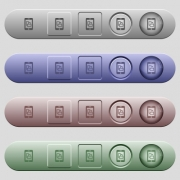Change mobile display orientation icons on rounded horizontal menu bars in different colors and button styles - Change mobile display orientation icons on horizontal menu bars