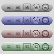 Copy image icons on rounded horizontal menu bars in different colors and button styles - Copy image icons on horizontal menu bars