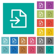 Import multi colored flat icons on plain square backgrounds. Included white and darker icon variations for hover or active effects. - Import square flat multi colored icons