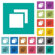 Overlapping elements multi colored flat icons on plain square backgrounds. Included white and darker icon variations for hover or active effects. - Overlapping elements square flat multi colored icons