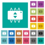 Hardware fine tune multi colored flat icons on plain square backgrounds. Included white and darker icon variations for hover or active effects. - Hardware fine tune square flat multi colored icons