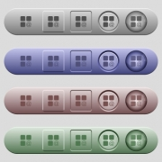 Component sending email icons on rounded horizontal menu bars in different colors and button styles - Component sending email icons on horizontal menu bars