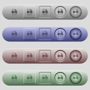 AI file format icons on rounded horizontal menu bars in different colors and button styles - AI file format icons on horizontal menu bars