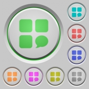 Message component color icons on sunk push buttons - Message component push buttons